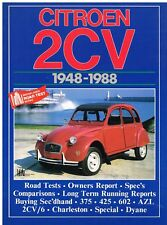 CITROEN 2CV ( 375 , 425 602cc ) 2CV/6 & DYANE 1948 - 1988 PERIOD ROAD TESTS BOOK