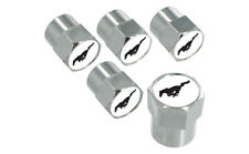 Ford Mustang Logo Valve Stem Caps - Set of 5 Chrome ABS Tire Air Covers