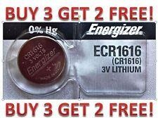 Energizer ECR1616 CR 1616 Lithium 3V Battery Braned New BUY 3 GET 2 FREE!!