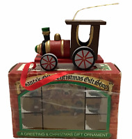 20 Christmas Cards Steam Engine Train passing kids on Hayride with Envelopes