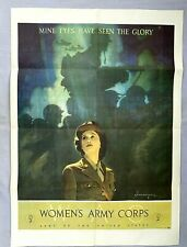 Original WWII Woman's Army Corps Poster - Mine Eyes Have Seen The Glory - 1944