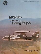 1980-1981 PUB GENERAL ELECTRIC APS-125 RADAR GRUMMAN HAWKEYE US NAVY VAW 122 AD
