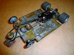 1/24 Slot Car Brass Rod Chassis w/ Mura/Champion 16D Motor - Used