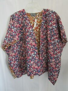 ANTHROPOLOGIE Women's Flowing Open Floral Quilted Wrap Jacket NWT  **One Size**