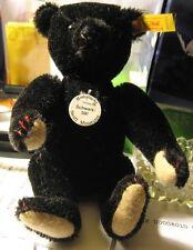 Minty Steiff Black Teddy Bear Schwarzbar Historic Miniature Series Ii 1992-1995