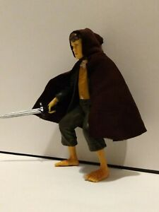 "Lord of the Rings Merry action figure 4 ¼"" with handmade cloak and sword"