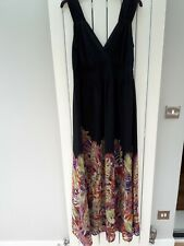 Black fully lined maxi dress size 14