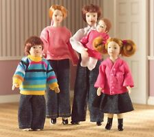 1:12 Scale The Laing Family Of 5 People Tumdee Dolls House Nursery Accessory 537