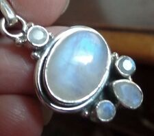 Stunning and Gorgeous Sterling Silver & Blue Moonstone Pendant