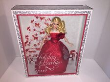 2012 Holiday Barbie Doll - Blonde with Red Christmas Dress - Mattel