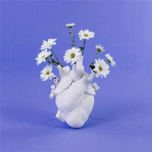 Resin Flower Vase Heart Shaped Desktop Flower Pot Wedding Dining Table Hotel