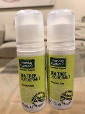 2 x Thursday Plantation Tea Tree Deodorant Aluminium-free 60mL Anti-Perspirant
