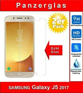 2x Samsung Galaxy J5 2017 Schutzglas 9H Panzerfolie Echtglas Displayschutz