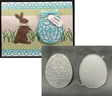 Easter Eggs metal die set BUNDLE - Egg Scroll & Outline Serendipity Cutting dies