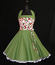 50er Petticoat Retro Rockabilly Pinup Party Tanz Erdbeeren Bühne Kleid 34-54