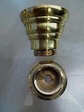 A QUALITY BRITISH MANUFACTURED 22MM BRASS OIL LAMP UNDERMOUNT SET.