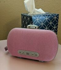Portable Bluetooth Speaker, Audio Mini Clutch on metalik Pink