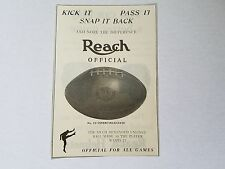 Football Helmets 1925 Reach Advertisement Ad