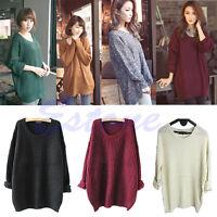 Women Oversized Batwing Sleeve Sweater Knitted Loose Tops Cardigan Outwear Coat