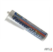 Everbuild Forever Clear Anti-Mould Waterproof Flexible Silicone Sealant C3 295ml
