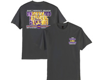 LSU Tigers 2019 National Champions Gray Shirt Sizes S-2XL Free Ship Undefeated