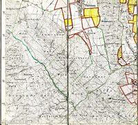 Hildesheim-Sorsum Marienrode 1929 Teilkarte/Ln. TK25 Lerchenberg Hildeshmr. Wald