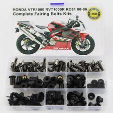 For Honda VTR1000 RVT1000R RC51 2000-2006 Complete Fairing Bolts Screws Titanium