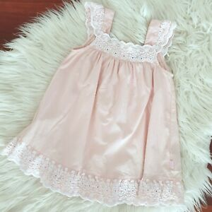 PUMPKIN PATCH - Size 12-18m (1) baby girls pink Broderie Anglaise trim dress