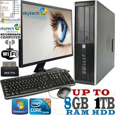Full Set PC Fast HP 8200 i3 Cheap Desktop Computer Monitor Office 2019 Pro Win10