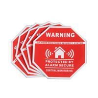 Autocollant propriété sous alarme X 5-Stickers dissuasifs