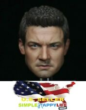 1/6 Jeremy Renner Hawkeye Head Sculpt For Avengers Hot Toys Phicen Figure ❶USA❶