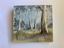 """Small Original Oil Painting On Board Landscape  Trees""""Beyond The Forest """" signed"""