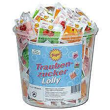 Frigeo Traubenzucker-Lolly 100 Stück in der 750g Dose