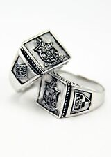 Kappa Alpha Psi sterling silver men's ring with crest