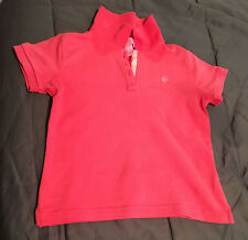 Lilly Pulitzer Little Girls Pink Stretch Cotton-Blend Polo Shirt Tee Top Sz 5