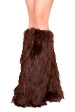 Roma brown gogo rave furry leg warmers
