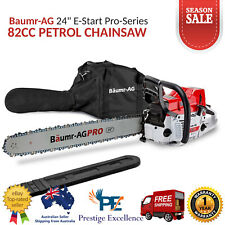 "Baumr-AG SX82 Pro-Series 24"" Petrol-Powered Chainsaw with Easy Start System 82cc"