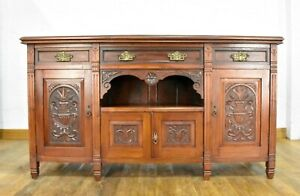 Antique carved sideboard - side cabinet