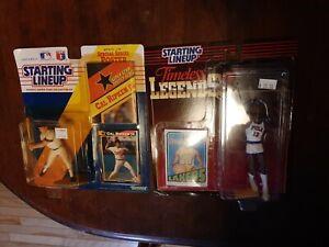 2 Starting Lineup Figures - Cal Ripken Jr 1991 & Wilt Chamberlain 1995 - NEW!