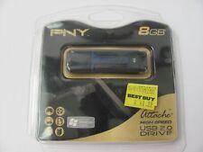 PNY Attache 8GB USB Flash Drive Usb2.0. P-FD8GBATT02-SF