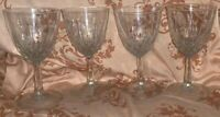 Vintage Crystal Cordial Stemmed Glasses, Set Of 4 - Clear