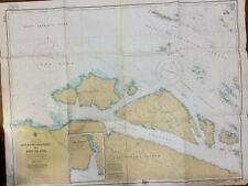 NAUTICAL CHART 3575 Goletas Channel to Pine Island, SAIL KAYAK CRAFT WALLPAPER