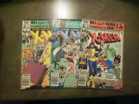 Uncanny X-Men Vol-1 (3) book lot #151,152,153 VF-FINE Marvel comics