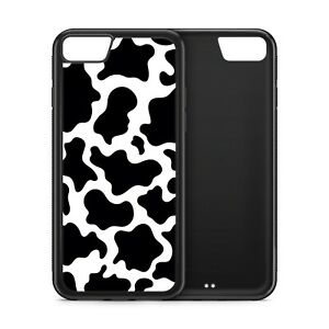 Cow Skin Print Wild Animal Rubber Phone Case