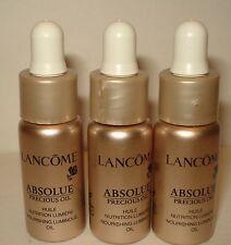 3 LANCOME Absolue Precious Oil Nurising Luminous Oil 0.16 oz/5ml each