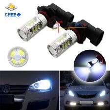 (2) 8K Blue High Power H10 9145 16-CREE LED Bulbs for DRL Driving Fog Lights