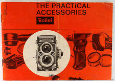 """Orig. Sales Brochure for Rolleiflex  - """"The Practical Accessories"""" - 28 pages"""