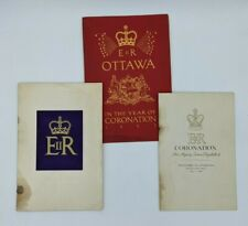 Queen Elizabeth II Coronation Ottawa 1953 Program Ceremonies Religious Service