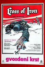 CROSS OF IRON PECKINPAH 1977 COBURN JAMES MASON WWII RARE EXYU MOVIE POSTER