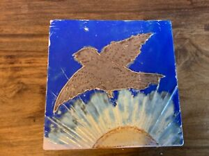 Bird and Sun retro tile